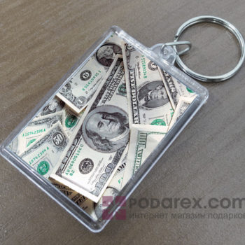 Брелок акриловый доллары