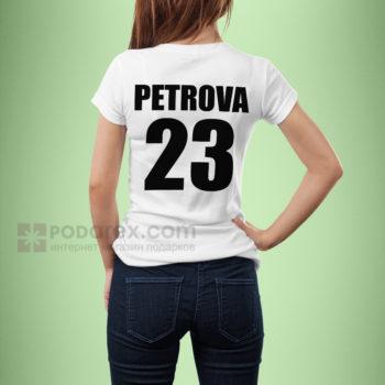 Футболка женская имя и номер